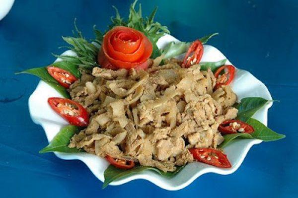 thịt chua Phú Thọ chế biến từ thịt lơn Lửng