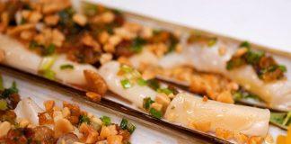 ốc móng tay nướng mỡ hành- hải sản Vũng Tàu ngon