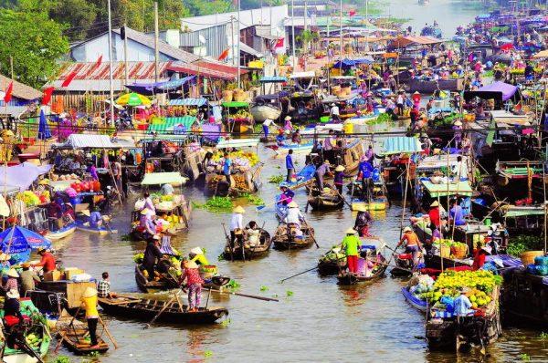 Chợ nổi Cái Răng - điểm du lịch Cần Thơ