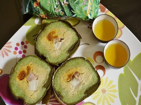 Bánh tét cốm dẹp -đặc sản Trà Vinh